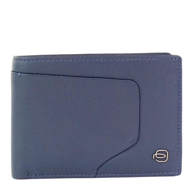 PIQUADRO Akron Geldbörse mit RFID-Blocker Blau