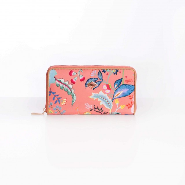 Oilily Color Bomb L Zip Wallet Camelia