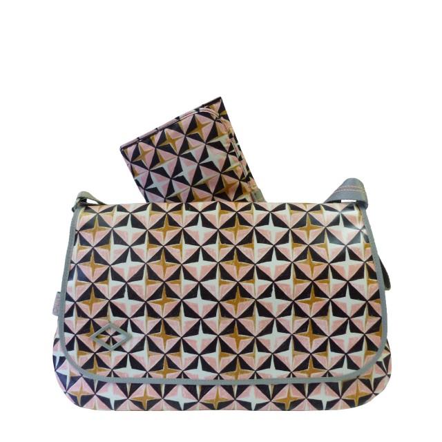 Oilily Lori Geometrical Diaperbag Lhf Umhängetasche Rose