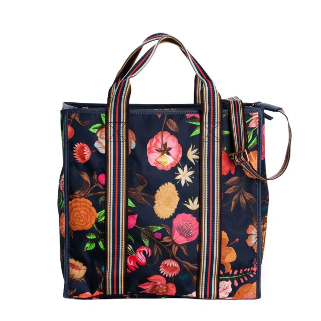 Oilily Winter Bouquet City Carrier Navy Night