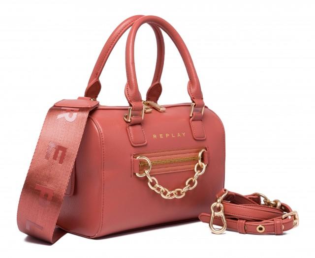 REPLAY Damen Handtasche FW3091 Lederimitat Altrosa