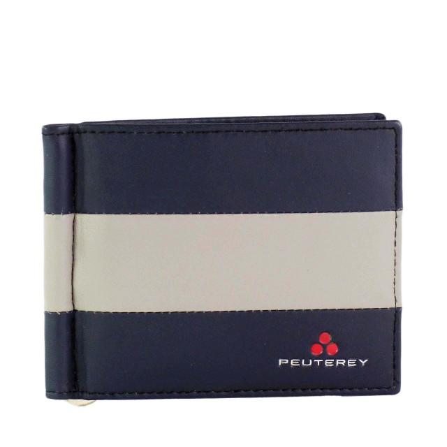 Peuterey SPRINGWAL - PTT0032 Leder Geldbörse mit Geldklammer Schwarz