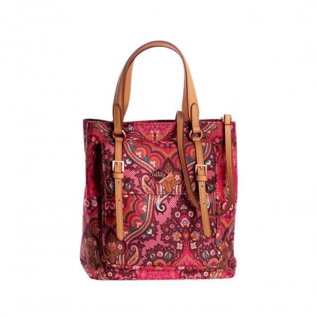 Oilily Paisley City Handbag Cherry