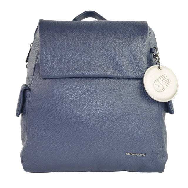 Mandarina Duck Mellow Leather Rucksack Dress Blue FZT9208Q
