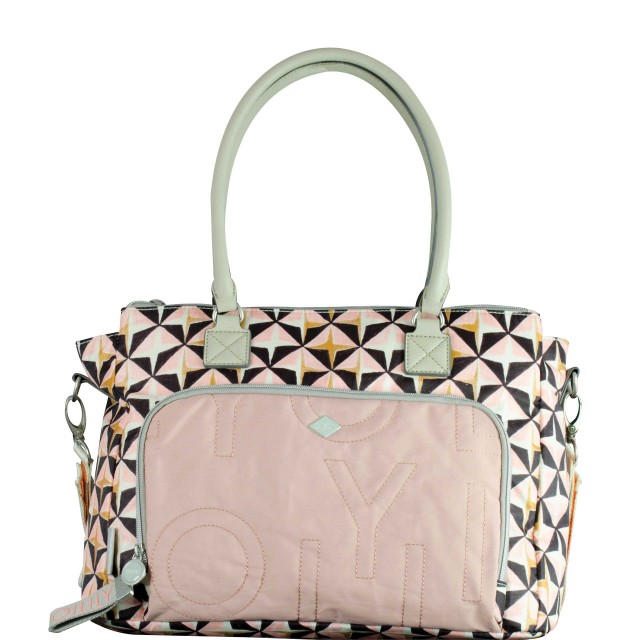 Oilily Charm Geometrical Diaperbag Mhz Wickeltasche Rose